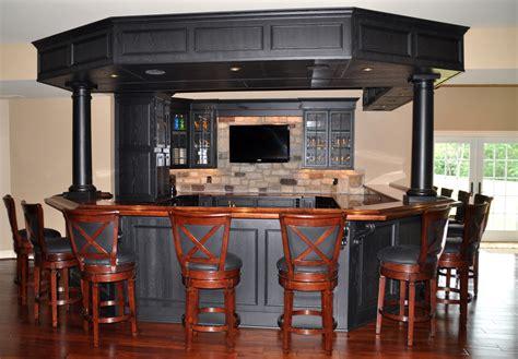 Wooden Home Bar by Basement Wood Bar Top Designs