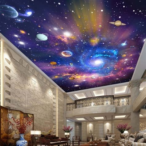 Galaxy Wallpaper For Ceiling custom 3d photo wallpaper universe galaxy room