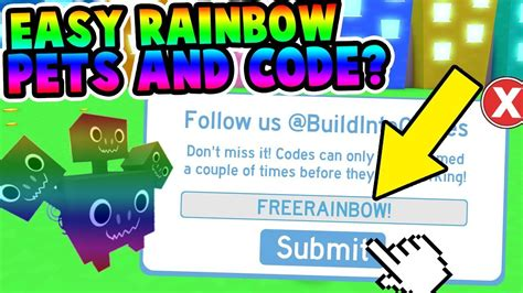 rainbow pets easy code pet simulator youtube