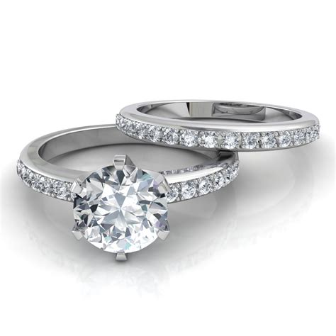Six Prong Pavé Solitaire Engagement Ring And Wedding Band. Philippines Sale Wedding Rings. Wedding Reception Wedding Rings. Womens Walmart Wedding Rings. Formen Engagement Rings. Novelty Rings. Lotus Engagement Rings. Detail Engagement Rings. Flashy Wedding Rings