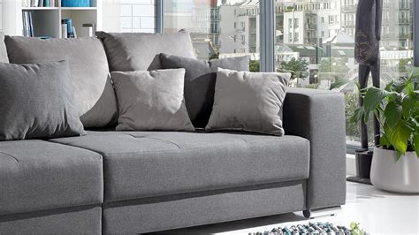 canapé italien sofa bigsofa adria sofa in stoff grau mit vielen kissen