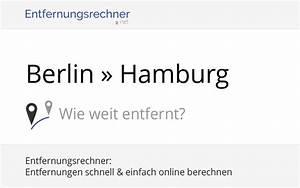 Berlin Hamburg Entfernung : berlin hamburg deutschland entfernung distanz ~ Watch28wear.com Haus und Dekorationen