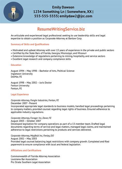 professional lawyer resume sample