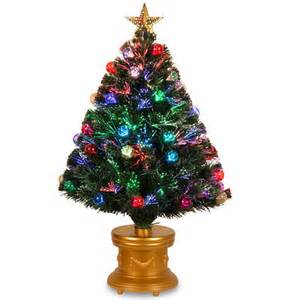 national tree company 3 pre lit led fiber optic and decorated artificial fireworks christmas