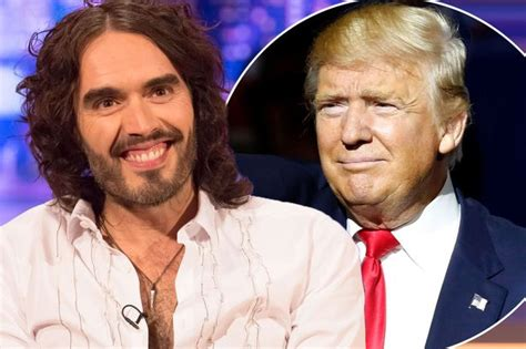 russell brand donald trump russell brand describes donald trump as quot sweet and really