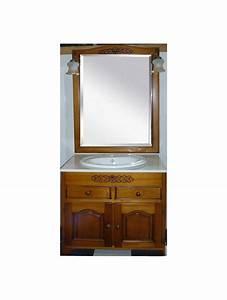 meuble de salle de bain bois versailles 80 cm With meuble salle de bain 80 cm bois