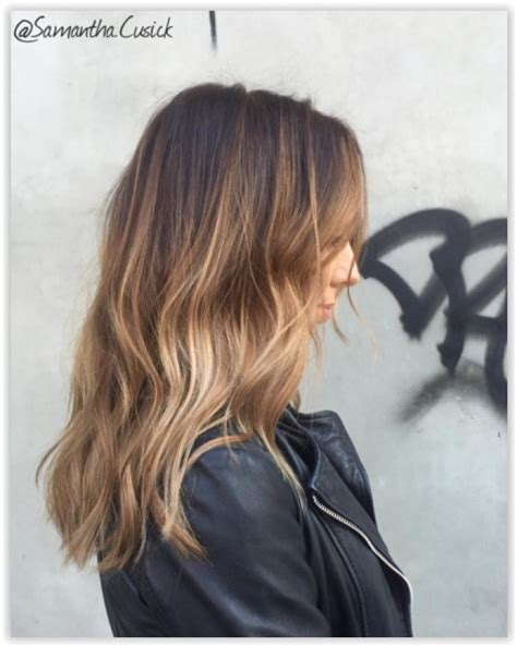 ombre hair  meches miel  modeles impressionnants