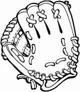 Glove Baseball Coloring Clip Clipart Mitt Pages Giants Gloves Drawings Sf Drawing Cliparts Catcher Ball Francisco San Pixels Library Printable sketch template