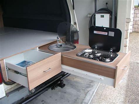 cer trailer kitchen ideas cer van kitchen vanlife conversion cing pinterest stove cers and kitchen drawers