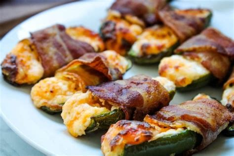 air fryer bacon wrapped stuffed jalapenos jalapeno cheese cream poppers
