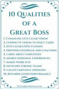 Good Qualities In An Employee How To Be A Good Boss 10 Qualities Of A Good Boss Good
