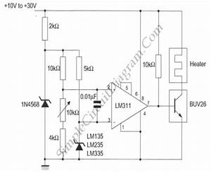 Simple Temperature Controller  U2013 Simple Circuit Diagram