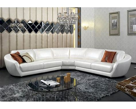 Contemporary Italian Leather Sectional Sofas by Contemporary Italian Pearl Leather Sectional Sofa 44l6099