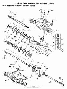Ayp  Electrolux 1d2a3a  1993  Parts Diagram For Dana Transaxle