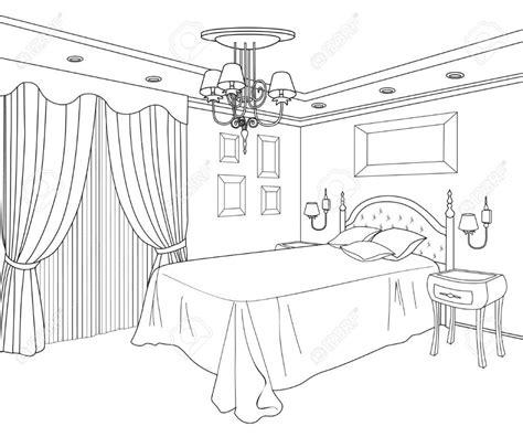 Bedroom Coloring Page  Ausmalbilder Zimmer Pinterest