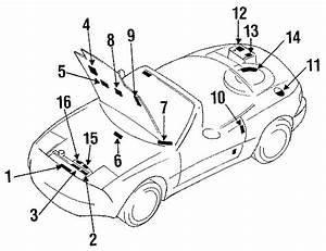 Mazda Miata Emission Label  All