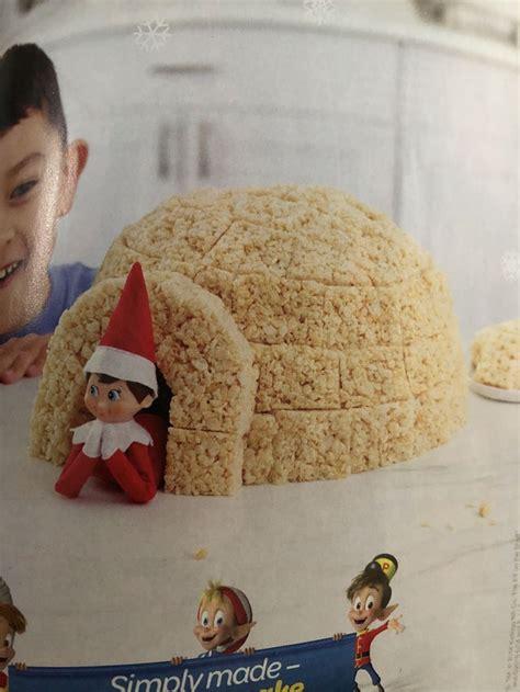 elf igloo   rice krispie treats   elf rice