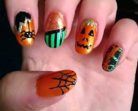 Halloween nail art designs acrylic