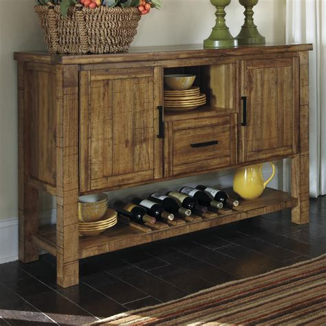dining room server cabinet signature design by ashley krinden d653 60 rustic dining