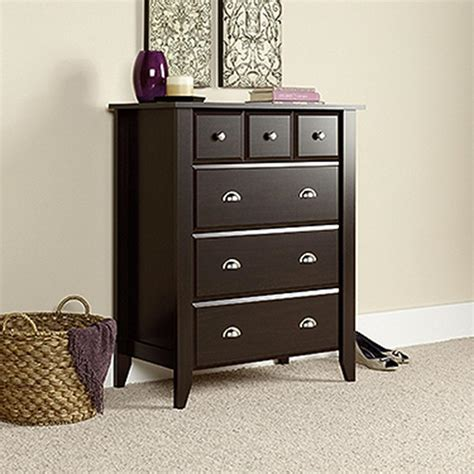 Sauder Shoal Creek Dresser Canada by Sauder Shoal Creek 4 Drawer Jamocha Wood Chest 409714