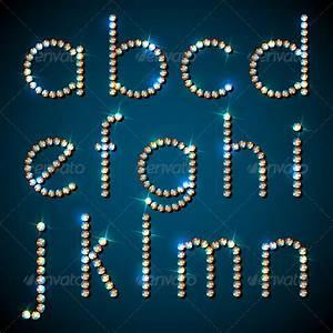shiny diamond alphabet letters lower case version by With shiny diamond alphabet letters