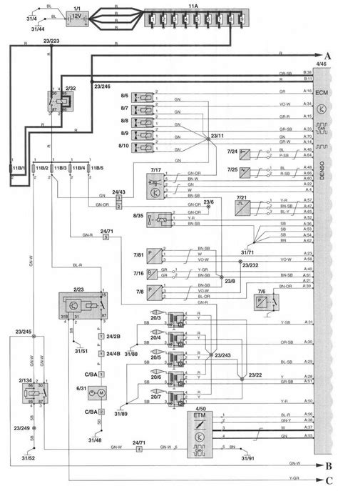 1998 Volvo S90 Fuse Box by 2000 Volvo S70 Wiring Diagram Wiring Schematic Diagram