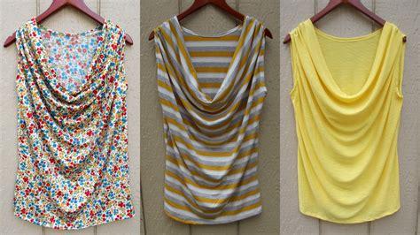 Draped Shirt Pattern - draped tank sewing projects burdastyle