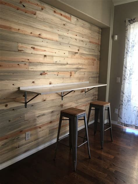 bar height table ledge  kitchen nook area mounted