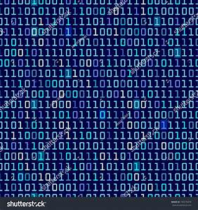 Blue Binary Computer Code Repeating Vector Background ...