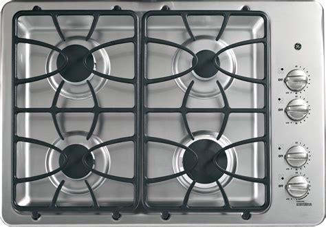 ge jgpsetss   gas cooktop   sealed burners powerboil  btu burner precise