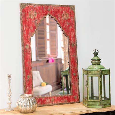 miroir sculpt 233 en bois h 110 cm anish maisons du monde