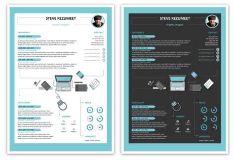 template resume cv word  powerpoint  modern