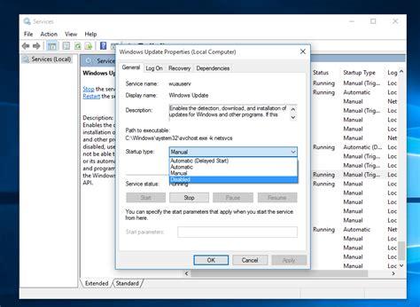 disable windows update  windows  rtm