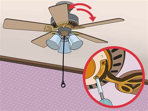 Ceiling Fan Wobble Safe by 3 Ways To Fix A Wobbling Ceiling Fan Wikihow