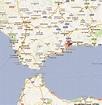 MAP OF MALAGA SPAIN - Imsa Kolese