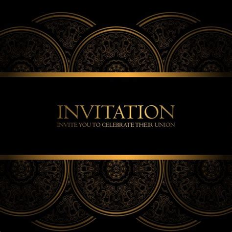 Download Black And Gold Invitation for free Gold