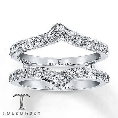 tolkowsky enhancer ring 1 ct tw diamonds 14k white gold