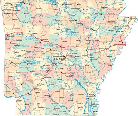 printable map  state map  arkansas state map