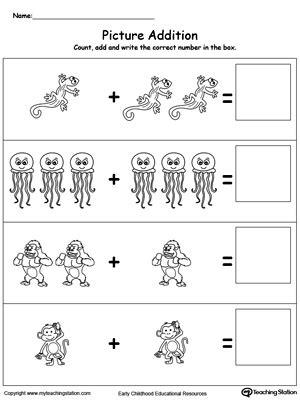preschool math printable worksheets myteachingstation