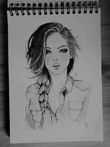 The gallery for --> Sketch Of A Girl With Braid