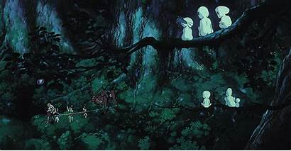 Mononoke Princess Ghibli Studio Miyazaki Hayao Background
