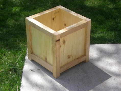 large wood planter box plans woodideas