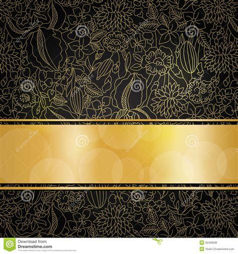 golden floral background royalty  stock image image