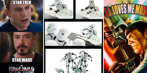 Star Wars Star Trek Meme - funny star wars vs star trek memes screen rant