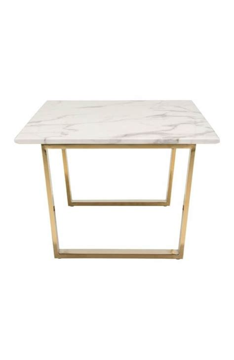Limited time sale easy return. White Marble Gold Coffee Table | Modern Furniture • Brickell Collection