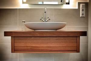 Waschtisch Für Aufsatzwaschbecken Aus Holz : bad unterschrank holz h ngend ~ Sanjose-hotels-ca.com Haus und Dekorationen