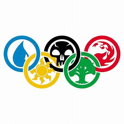 Gathering Magic Olympic Svg Clipart Rings Olympics