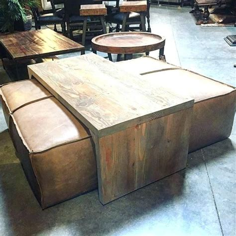 Measure on the coffee table with measuring tape. coffee table ottomans ottoman coffee table coffee table ottoman combo rectangle co… | Leather ...