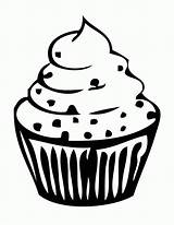 Cupcake Outline Coloring Pages Clipart Drawing Birthday Cake Cup Cliparts Printable Clip Library Cupcakes Cute Silhouette Clipartion Cartoon Cakes Getcoloringpages sketch template