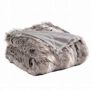 Plaid Blanc Fourrure : plaid fausse fourrure siberie gris 150 x 180 cm achat vente couverture plaid soldes ~ Teatrodelosmanantiales.com Idées de Décoration